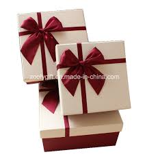 gift box with ribbon china quality textured paper gift box with ribbon bow pop up