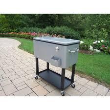 80 qt steel patio cooler cart walmart com
