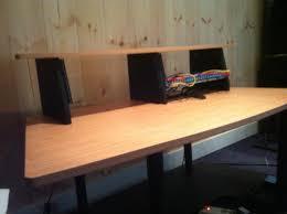 omnirax presto 4 studio desk studio rta superb sauder lake point l desk studio rta glass top l