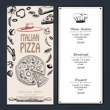 restaurant menu design vector free download