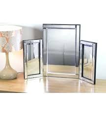 Glass Vanity Table With Mirror Venetian Glass Tri Fold Dressing Table Mirror Tri Fold Mirror Wall