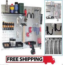pegboard tool organizer wall control utility storage kit