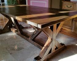 farmhouse dining table legs farmhouse dining table w truss beam legs
