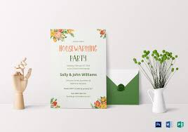 colorful housewarming invitation design template in psd word