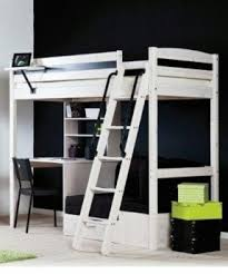 white loft bed desk foter