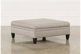 adler fabric large round storage ottoman living spaces