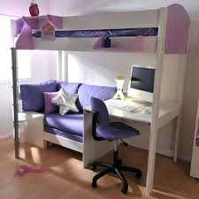 Desk  Girls Loft Bed With Desk Functional Teen Room Furniture - White bunk bed with desk