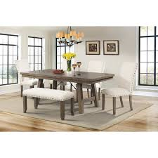picket house djx100bn dex dining bench w cream linen top