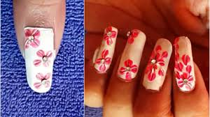 easy nails art design by using a home tools simple flower nail