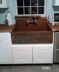 kitchen sink backsplash copper sinks with integral back splashes by rachiele