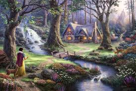 snow white discovers the cottage parsons kinkade gallery