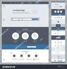 one page design template business landing stock vector 703711447