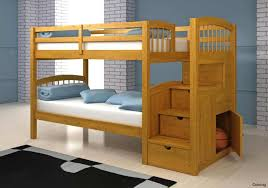 loft bed with stairs free bunk plans download futon and desk beds