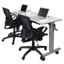 adjustable height training table desks adjustable standing desks luxor adjustable height training