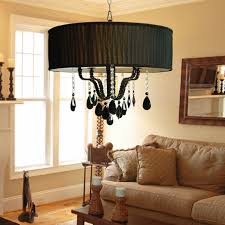 Chandelier With Black Shades Murano Venetian Style Trimmed Chandelier Chandeliers Crystal