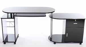 Charles Jacobs Computer Desk Charles Jacobs Computer Desk High Gloss Top In Black Finish With