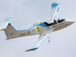a battery powered airplane has crossed the english channel