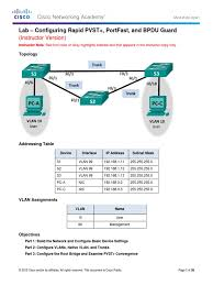 2 3 2 3 lab configuring rapid pvst portfast and bpdu guard