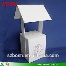 Wedding Wishing Box Modern Design Acrylic Wishing Well Card Box For Wedding Party