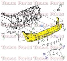 2007 jeep grand parts oem mopar front bumper energy absorber 2005 2007 jeep liberty