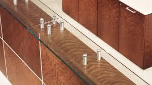Reception Desk Wood by Corner Reception Desk Modular Glass Laminate Element Ofs