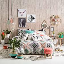 ombre home wild u0026 free kazi quilt cover set multicoloured king reg