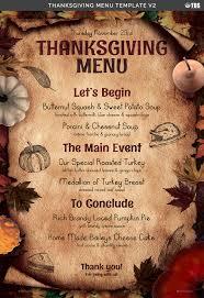thanksgiving menu template v2 by lou606 graphicriver
