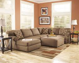 sectional sofas with ottoman ashley furniture living room fusion ashley cowan mocha brown