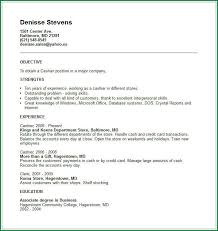 Example Of Cashier Resume by 10 Example Of Cv With Work Experience Applicationsformat Info