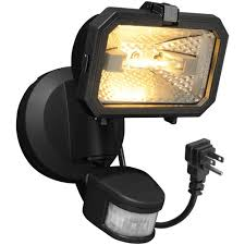 plug in outdoor flood light brink s 180 degree halogen plug in motion activated security light