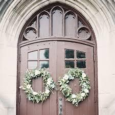 wedding wreaths winter wedding idea wreaths brides