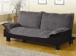 modern microfiber convertible sofa bed 300177 grey black