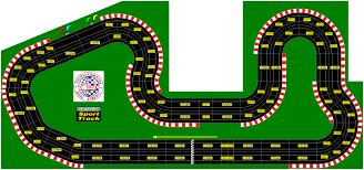cartoon race car famous north american racing circuits in miniature slot cars