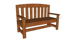 Wooden Bench Plan 2x4 Bench Plans Howtospecialist How To Build Step By Step Diy