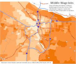 Portland Oregon On Map by Portland Polarization Maps Oregon Office Of Economic Analysis