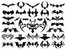 bat shapes set for halloween u2014 stock vector pixaroma 79030390