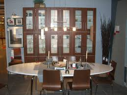 Lighted Display Cabinet Tips Classic Interior Wood Storage Ideas With China Cabinet Ikea