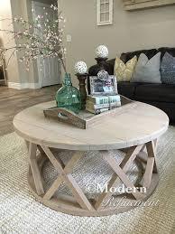 beautiful round rustic coffee table interiorvues regarding