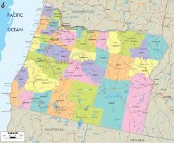 map usa oregon counties road map usa