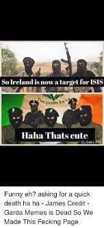 Garda Memes - so ireland is now a target for isis haha thats cute funny eh