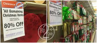 hobby lobby 80 off all remaining christmas merchandise u003d 20
