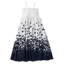 toddler girls u0027 burt u0027s bees butterfly ombre maxi dress white navy