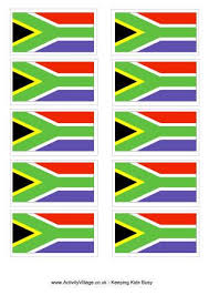 south africa flag colouring