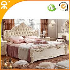 wood king size bedroom sets modern wholesale pretty princess style solid wood leather fabric