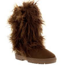 womens fur boots uk womens fur covered fur lined winter warm boots
