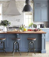 painted blue kitchen cabinets blue gray cabinets contemporary kitchen farrow ball down