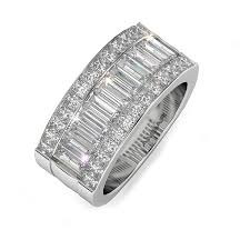 baguette wedding band quadrillion baguette diamond wedding band