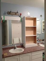 large bathroom ideas large bathroom mirror redo to framed mirrors and cabinet