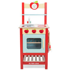 le toy van applewood play kitchen with apple motif cuckooland