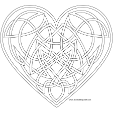 knotwork heart coloring page also available as a transparent png